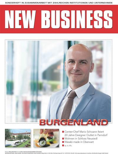 Cover: NEW BUSINESS Bundeslandspecial - BURGENLAND 2018