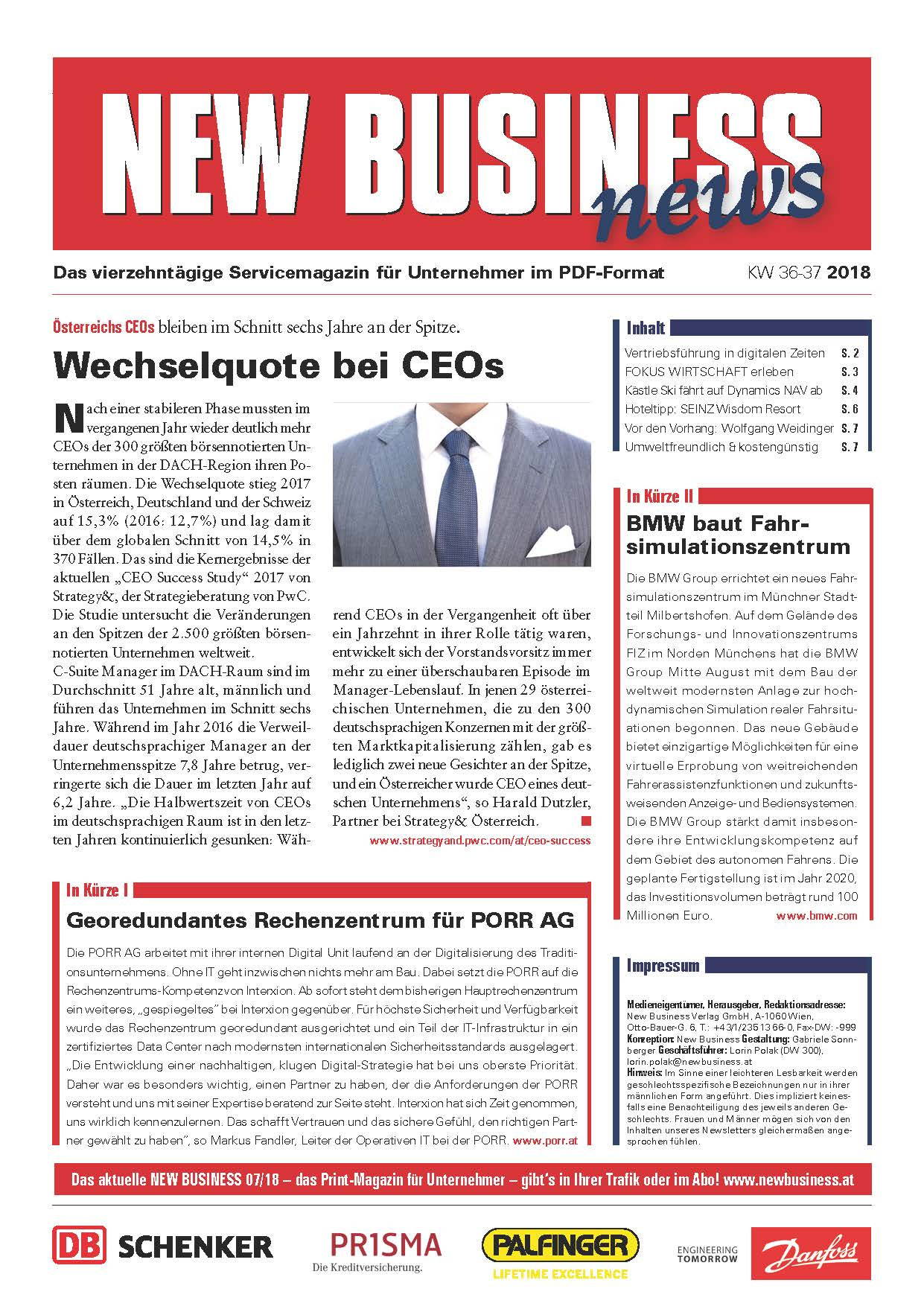Cover: NEW BUSINESS News - 36-37/2018