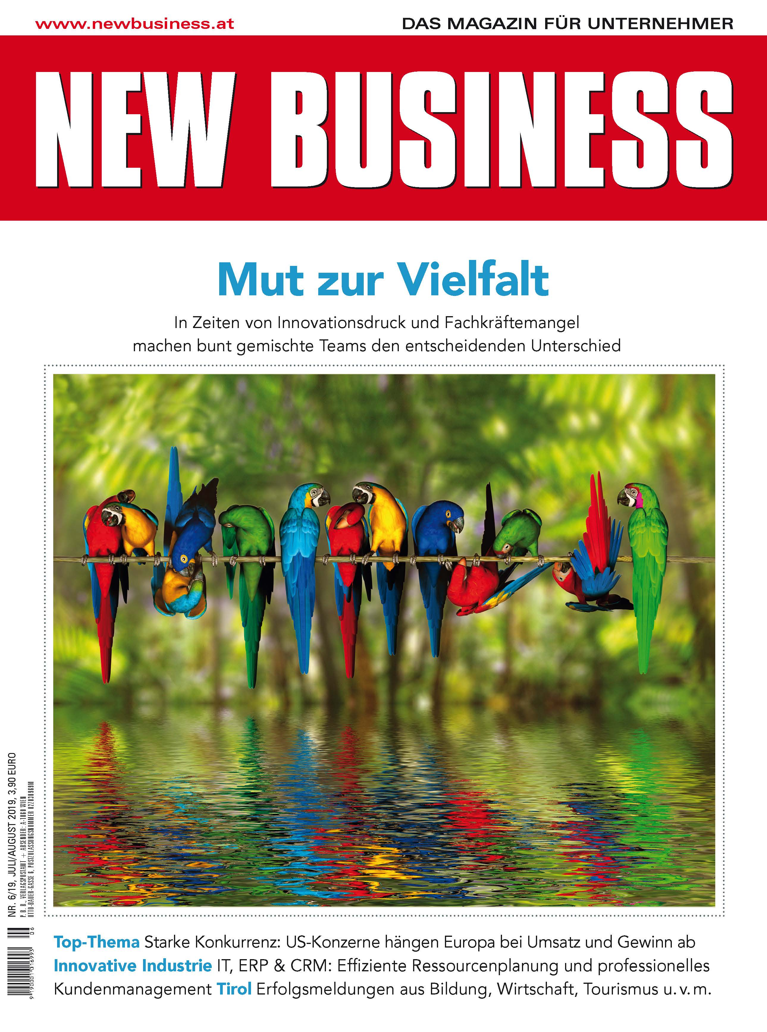 Cover: NEW BUSINESS - NR. 6, JULI/AUGUST 2019