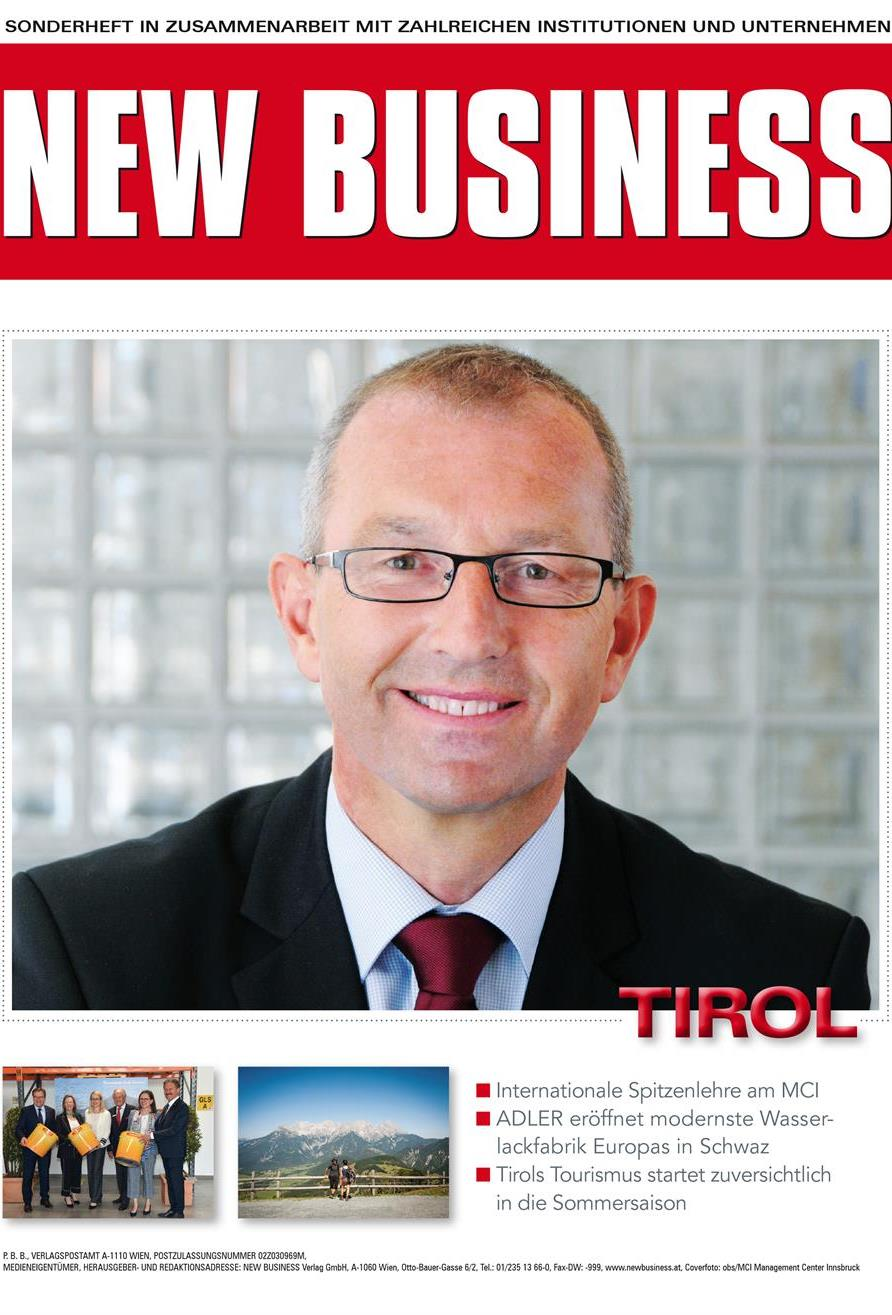 Cover: NEW BUSINESS Bundeslandspecial - TIROL 2019
