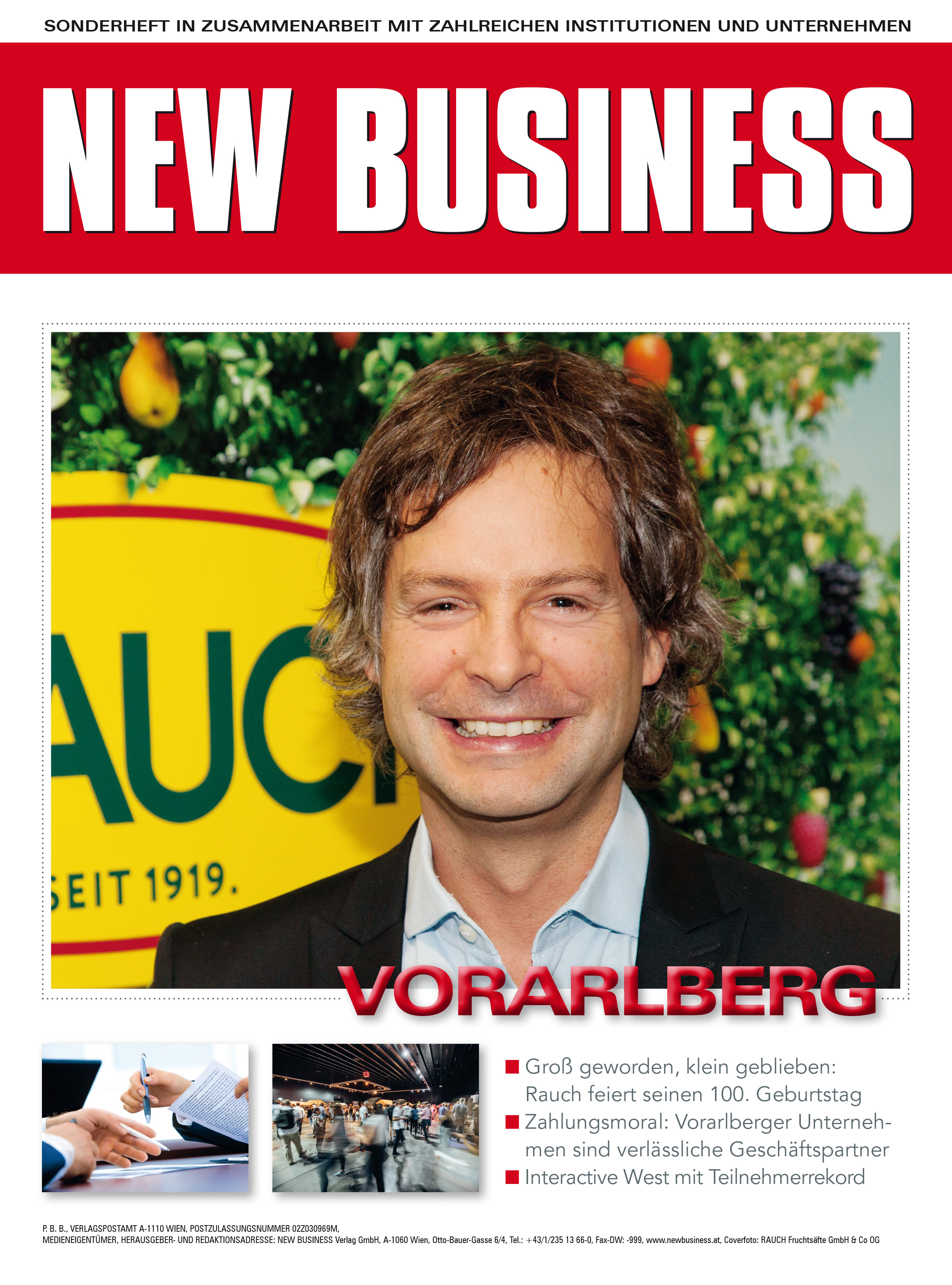 Cover: NEW BUSINESS Bundeslandspecial - VORARLBERG 2019