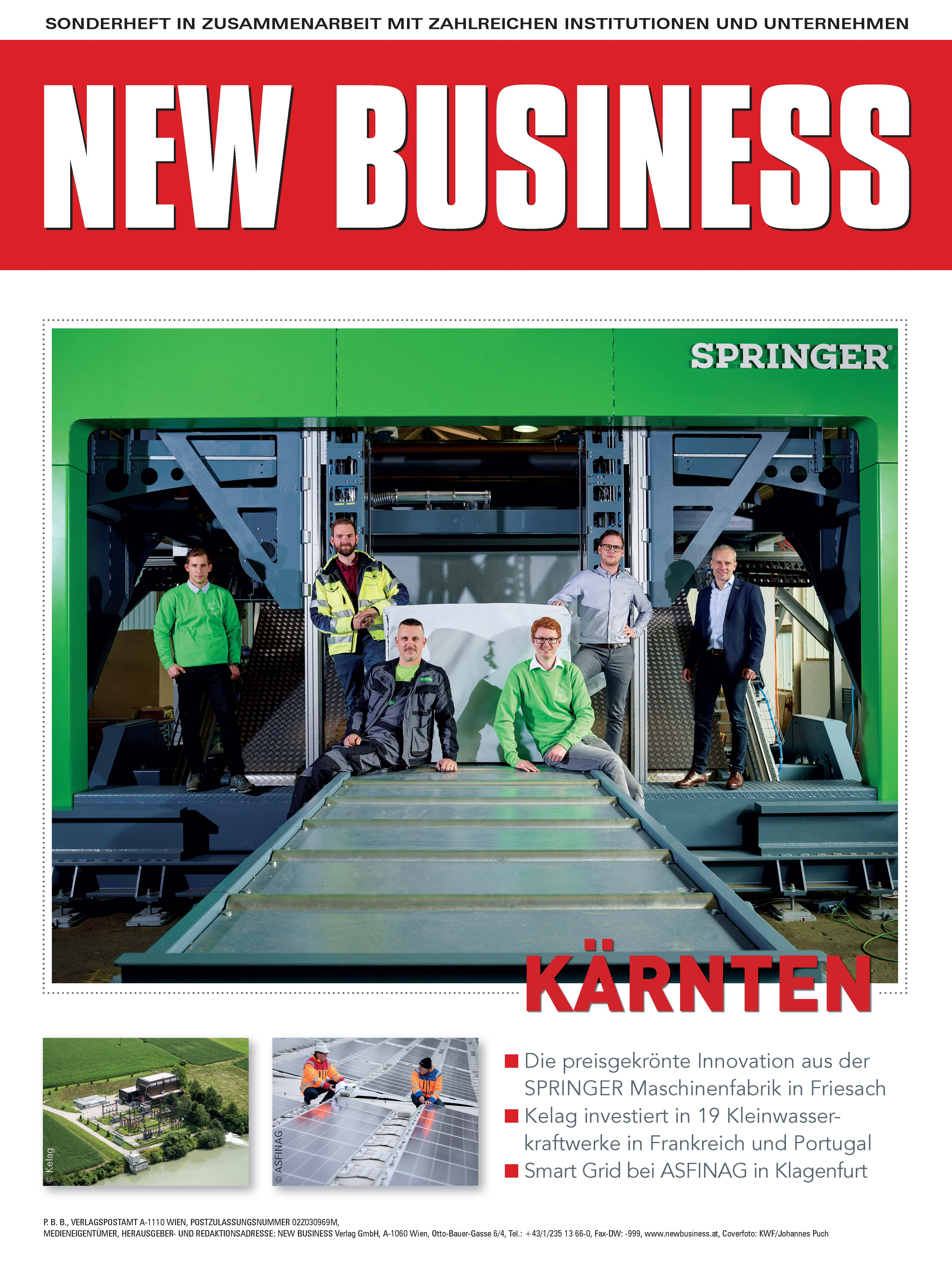 Cover: NEW BUSINESS Bundeslandspecial - KÄRNTEN 2021