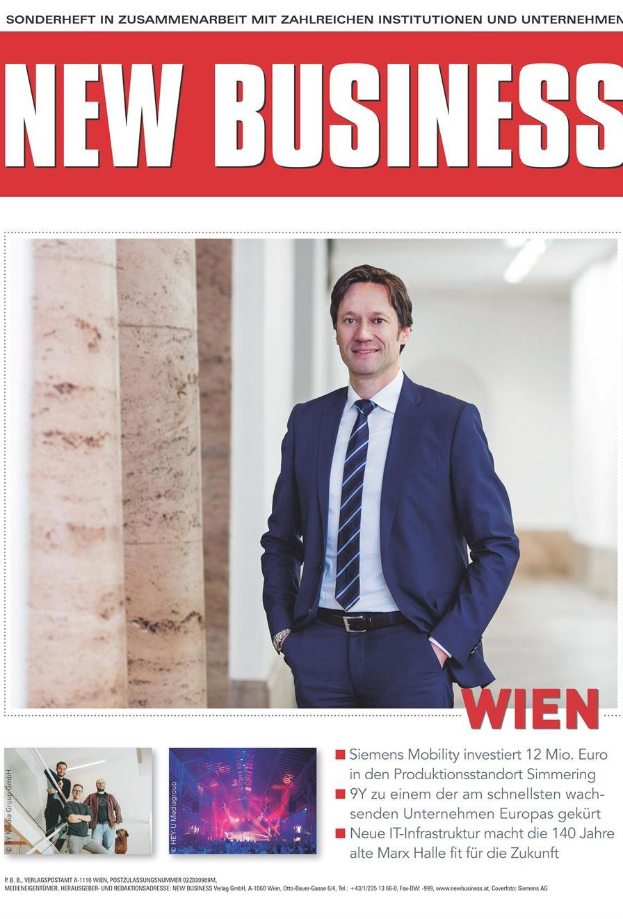 Cover: NEW BUSINESS Bundeslandspecial - WIEN 2021